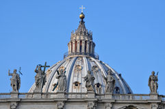 St. Peter's Basilica. Architectural detail of St. Peter's Basilica, Vatican City Royalty Free Stock Images