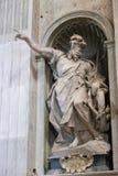St. Peter's Basilica Arts sculpture - Vatican Royalty Free Stock Image