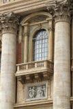St. Peter's Basilica balcony Stock Image