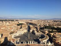 St. Peter's Basilica Basilica in Vatican City. On the top of the Stock Photography