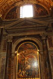 St. Peter`s Basilica chapel Vatican Royalty Free Stock Photography