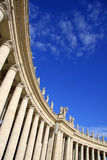St. Peter's Basilica colonnade. ROME, ITALY royalty free stock photography