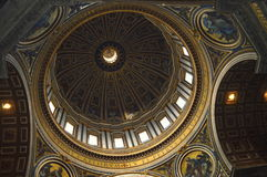 St. Peter's Basilica dome rome Stock Image