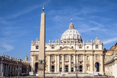 St Peter's Basilica. Front Side of the St Peter's Basilica Stock Photo
