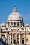St Peter's Basilica. Front Side of the St Peter's Basilica Royalty Free Stock Photos