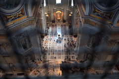 St peter's basilica indoors Stock Images