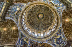 St Peter's Basilica (inside) Royalty Free Stock Photo
