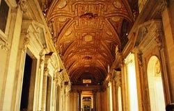 St. Peter`s Basilica narthex Vatican Stock Image