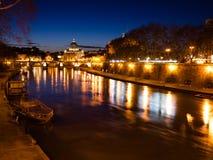 St. Peter's Basilica at Night. Stock Photos