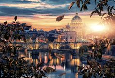St Peter`s basilica in Rome Stock Photography