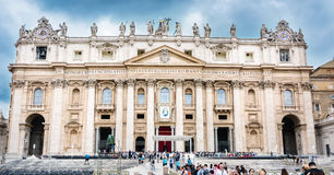 St. Peter`s Basilica in Rome Stock Photos