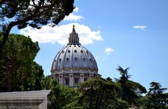 St. Peter's Basilica. Snapped while visiting Vatican City Museum Stock Image