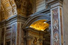 St Peter`s Basilica. St. Peter`s Cathedral stock image