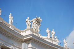 St. Peter's Basilica, St. Peter's Square, Vatican City Royalty Free Stock Photography