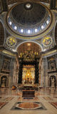 St. Peter`s Basilica, St. Peter`s Square, Vatican City, Indoor i royalty free stock image