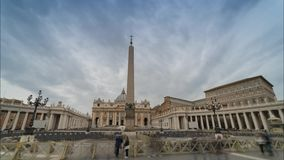 St. Peter's Basilica. Time laps of St. Peter's Basilica stock video footage