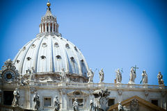 St Peter's Basilica, Vatican. Domed roof of St Peter's Basilica, Vatican City, Rome Royalty Free Stock Photography