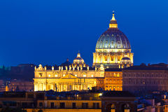 St. Peter's Basilica, the Vatican. The Papal Basilica of Saint Peter in the Vatican City stock photography