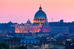 St. Peter's Basilica, the Vatican. The Papal Basilica of Saint Peter in the Vatican City stock photo