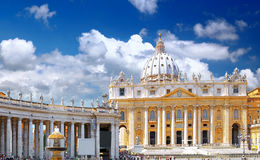 St. Peter's Basilica, Vatican City. Royalty Free Stock Photo