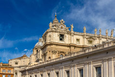St. Peter's Basilica in Vatican Stock Images