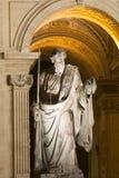 St. Peter's Basilica, Vatican City detail at night Stock Image