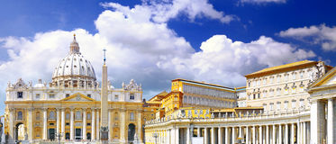 St. Peter's Basilica, Vatican City.  Italy Stock Image