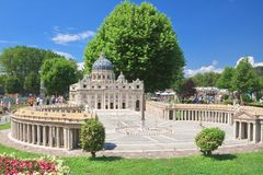 St. Peter's Basilica, Vatican City.Klagenfurt. Miniature Park Stock Photos