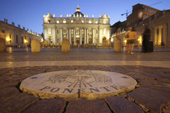 St. Peter s Basilica Vatican City at night Royalty Free Stock Photo