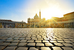St. Peter's Basilica at Vatican city, Rome, Italy Royalty Free Stock Images