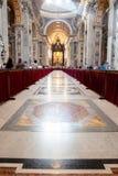 St. Peter& x27;s Basilica - Vatican City, Rome, Italy. Dome in St. Peter& x27;s Basilica and Bernini& x27;s Baldacchino - Vatican City, Rome, Italy Stock Photos
