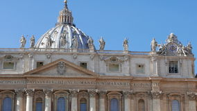 St. Peter's Basilica. Vatican City, Rome, Italy. Video stock footage