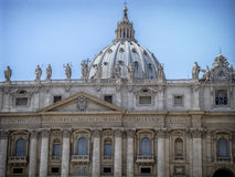 St. Peter's Basilica in Vatican. The most famous and largest basilica in the world, a masterpiece of several architects, especially Michelangelo and Bernini Stock Image