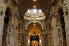 St. Peter's Basilica in Vatican, Rome, Italy Royalty Free Stock Photography