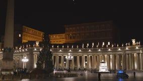St. Peter`s Basilica in Vatican stock footage