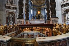 Free St. Peter`s Basilica, With The Tomb Of St. Peter Stock Images - 135140624