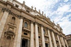 St Peter s Basiliek in Vatikaan Royalty-vrije Stock Afbeelding