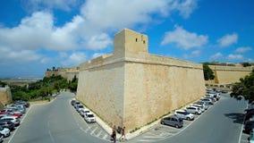 St- Peter` s Bastion von Rabat-Festung, Malta stock video footage