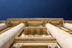 St Peter ` s bazyliki fasada obrazy royalty free