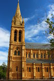 St Peter's Cathedral in Adelaide. Majestic St Peter's Cathedral in Adelaide with blue sky Stock Photos
