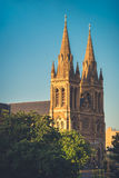 St. Peter's Cathedral of Adelaide at sunset Stock Photo