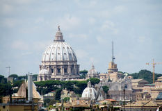 St. Peter's Cathedral dome in Vatican Stock Image