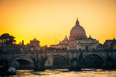 St. Peter's cathedral at dusk, Rome Stock Photography