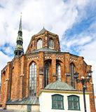 St.Peter's Cathedral, Riga, Latvia. The St Peter's Church is the highest church in Riga, and also a remarkable example of the 13th century gothic architecture royalty free stock image