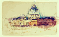 St. Peter's cathedral in Rome, Italy Royalty Free Stock Photography