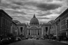 St. Peter's cathedral in Rome Royalty Free Stock Image