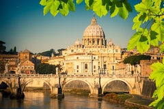 St. Peter's cathedral in Rome Stock Photos