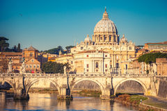 St. Peter's cathedral in Rome Stock Image