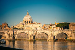 St. Peter's cathedral in Rome Royalty Free Stock Photos