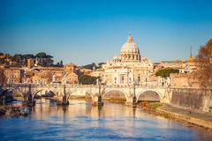 St. Peter's cathedral in Rome Stock Images